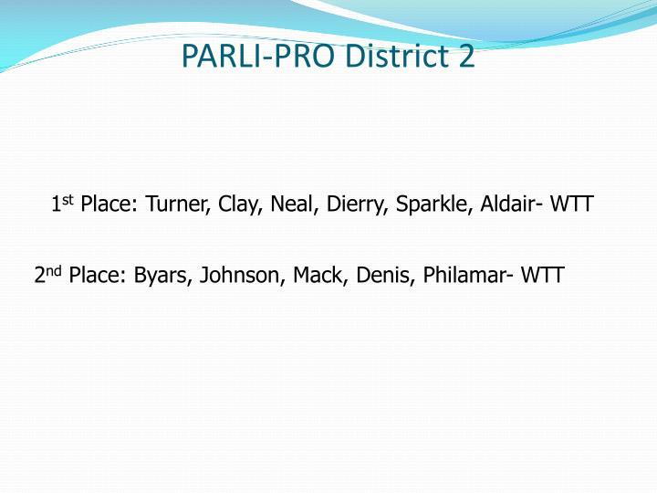PARLI-PRO District 2