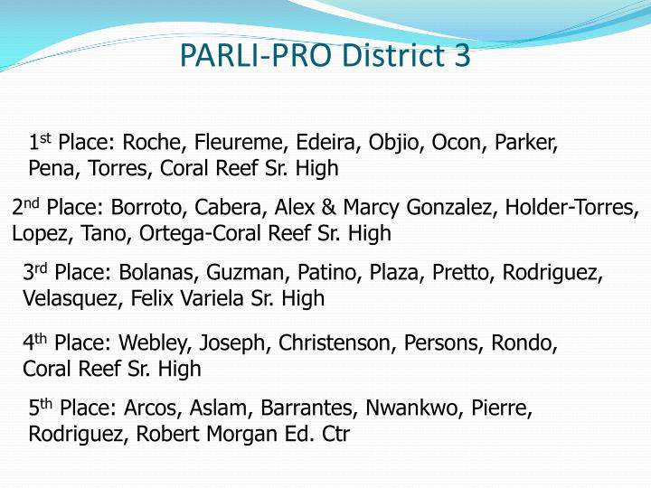 PARLI-PRO District 3