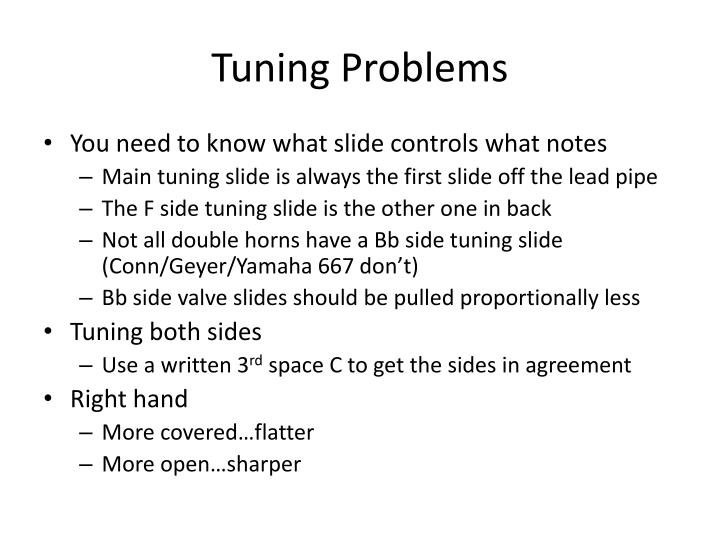 Tuning Problems