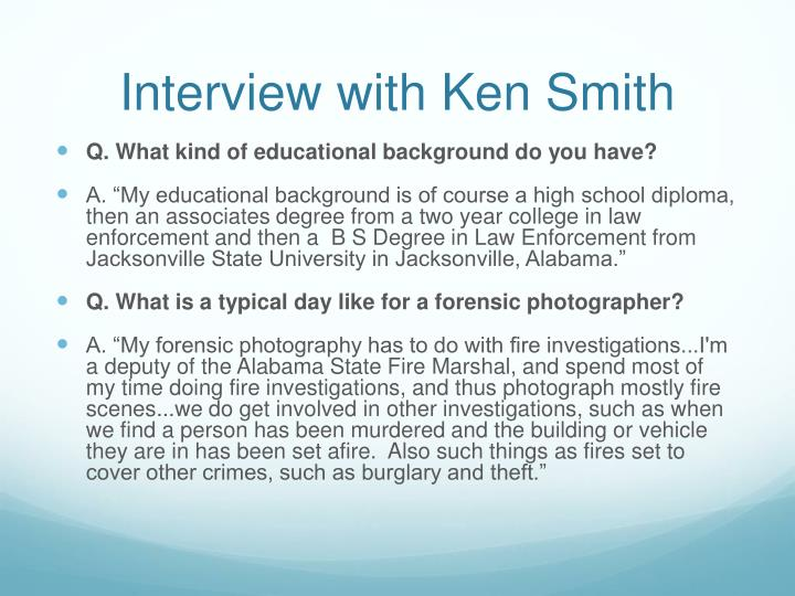 Interview with Ken Smith