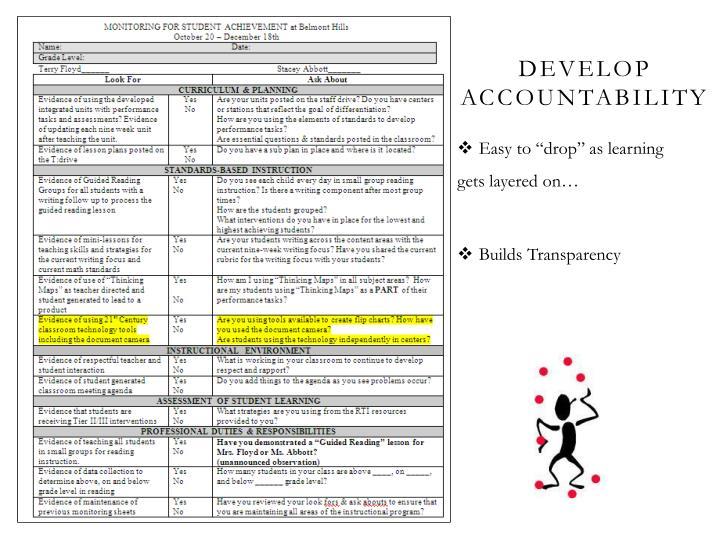 Develop      Accountability