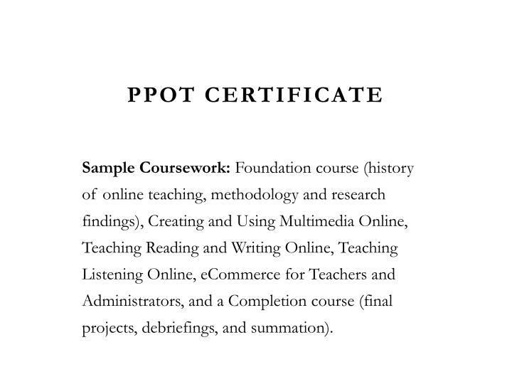 PPOT Certificate