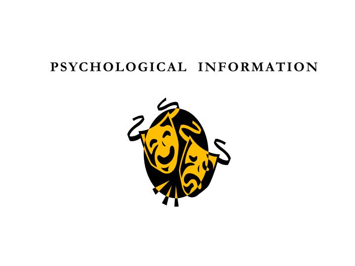 Psychological  Information