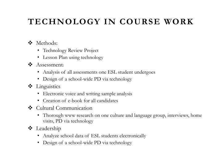 Technology in Course Work