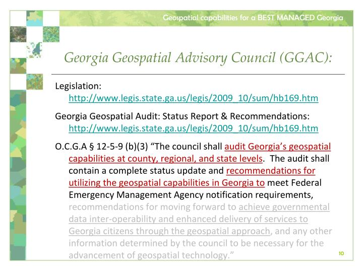 Georgia Geospatial Advisory Council (GGAC