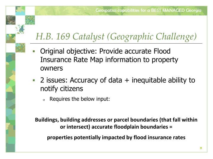 H.B. 169 Catalyst (Geographic Challenge)