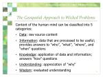 the geospatial approach to wicked problems1