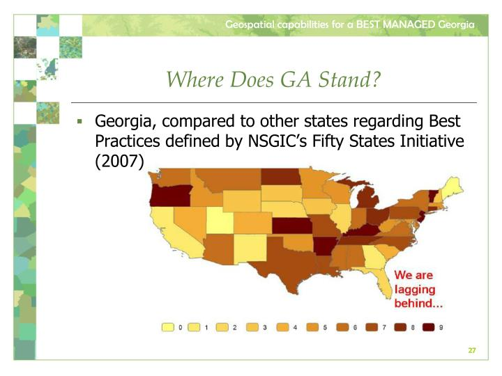Where Does GA Stand?