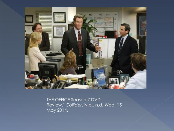 THE OFFICE Season 7 DVD Review.""