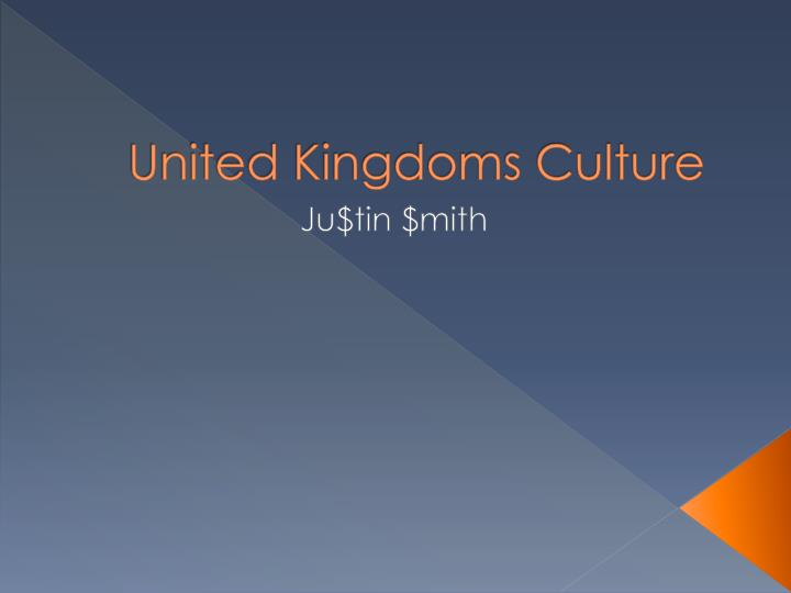 United kingdoms culture