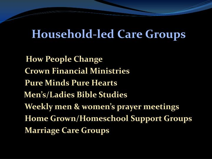 Household-led Care Groups