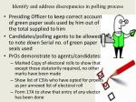 i dentify and address discrepancies in polling process2
