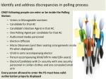 i dentify and address discrepancies in polling process6