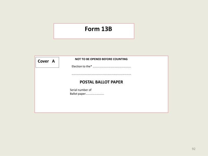 Form 13B