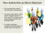 y our authorities as micro observer