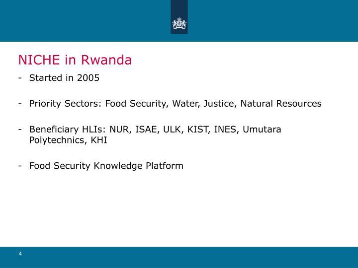NICHE in Rwanda
