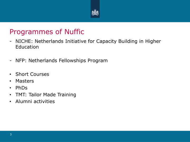 Programmes of nuffic