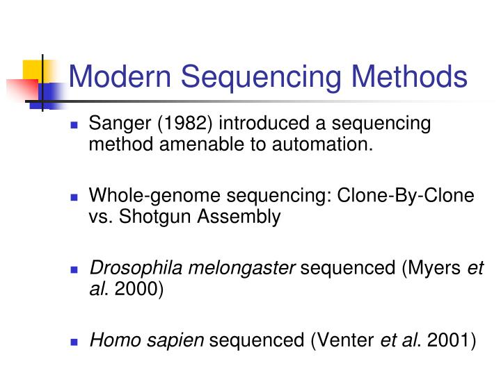Modern Sequencing Methods