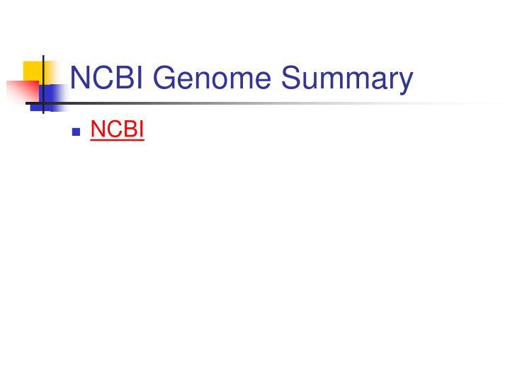 NCBI Genome Summary