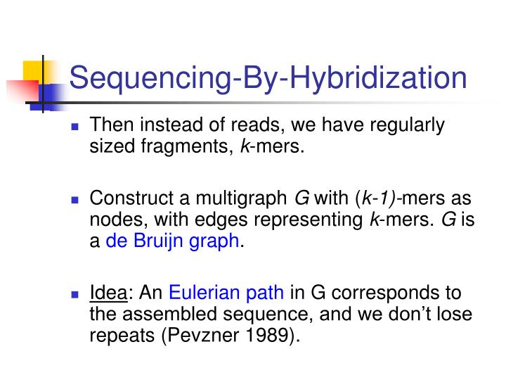 Sequencing-By-Hybridization