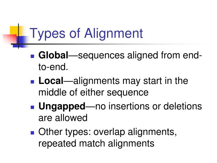 Types of alignment