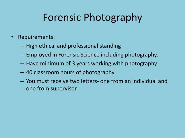 Forensic photography1