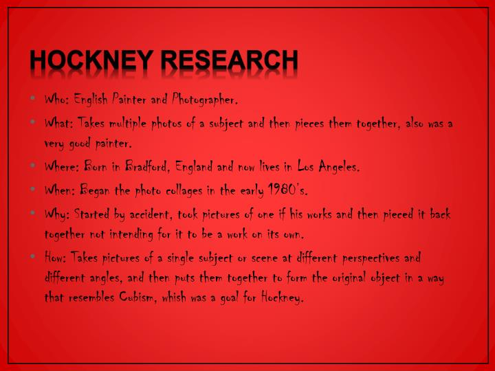 Hockney Research
