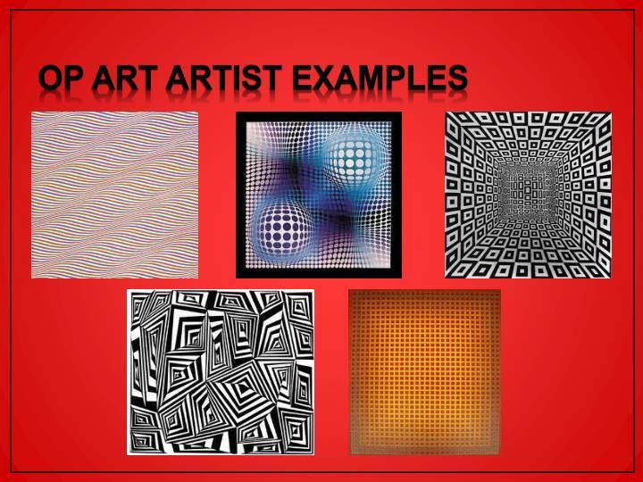 Op Art Artist Examples
