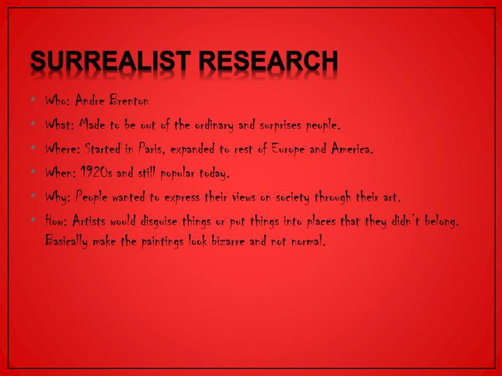Surrealist Research