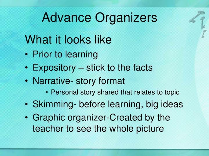 Advance Organizers