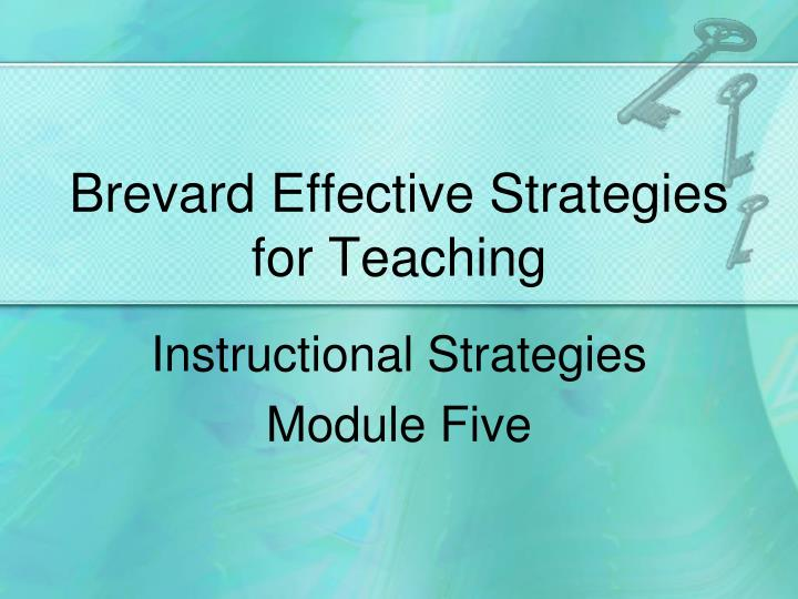Brevard effective strategies for teaching