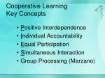 cooperative learning key concepts