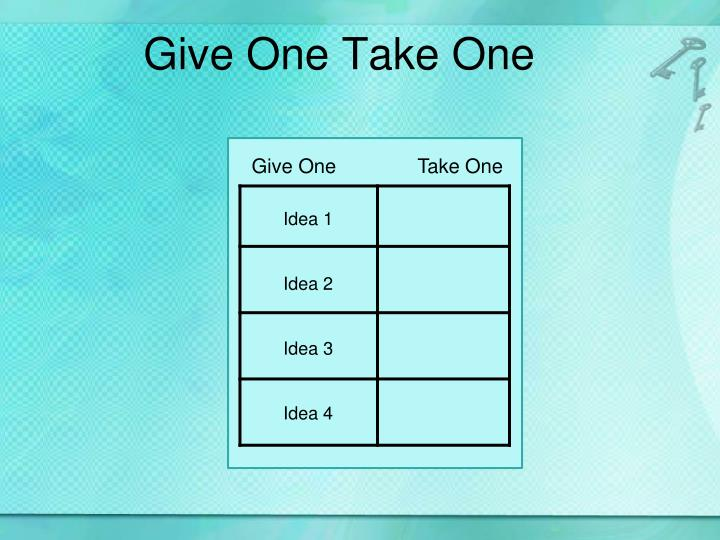 Give One Take One