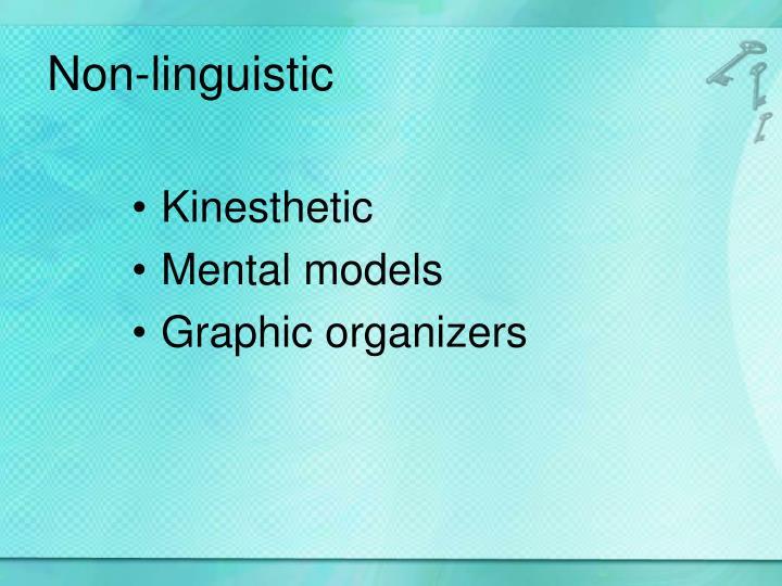 Non-linguistic