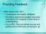 providing feedback1