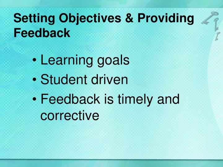 Setting Objectives &