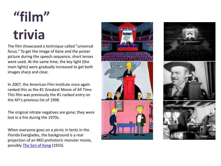"""""""film""""    trivia"""