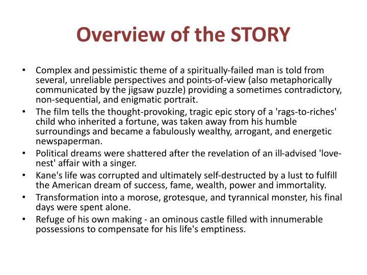 Overview of the STORY