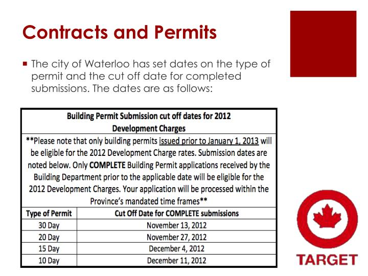 Contracts and Permits