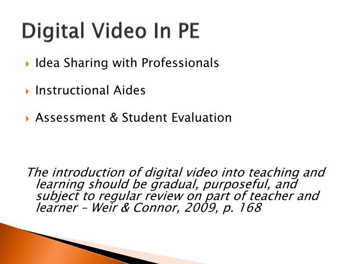 Digital Video In PE