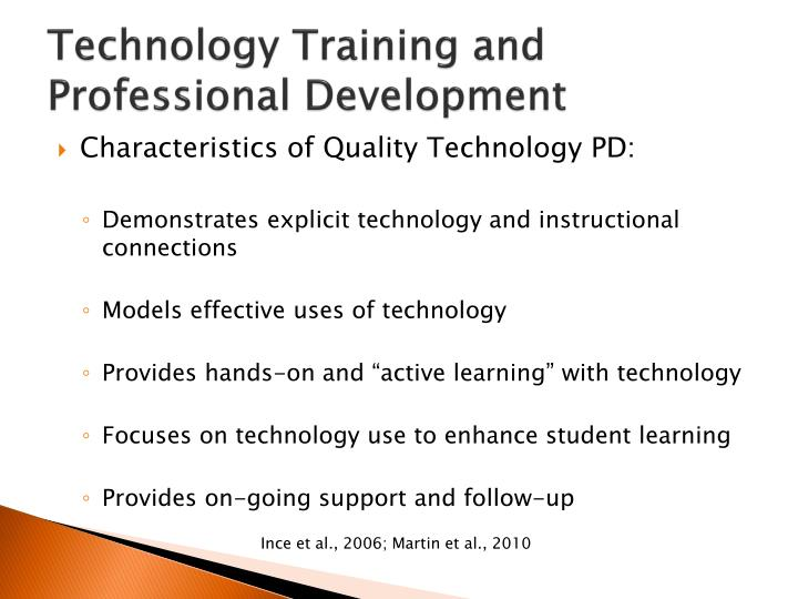 Technology Training and Professional Development