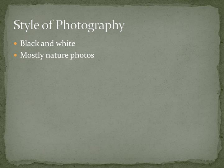 Style of Photography