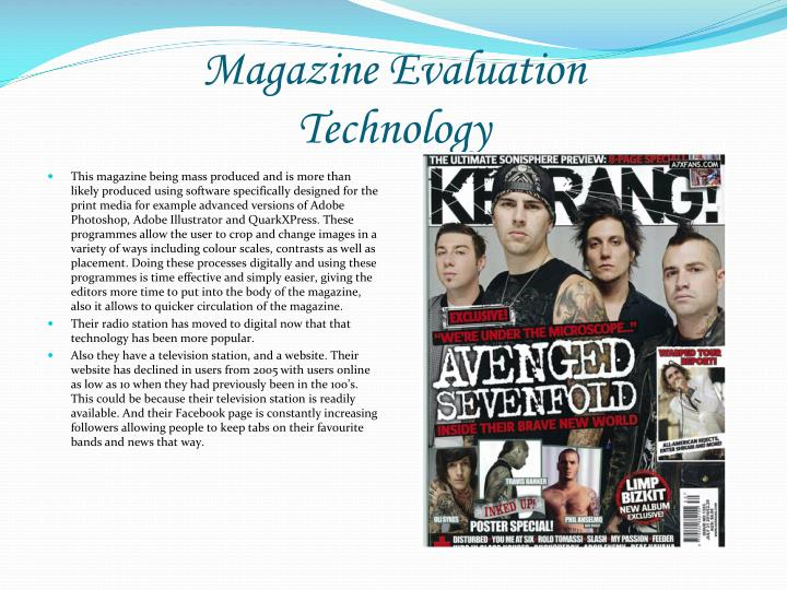 Magazine Evaluation