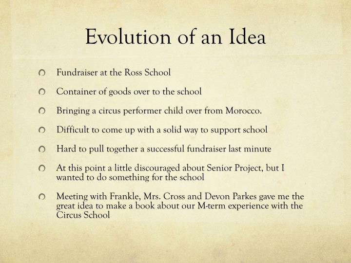 Evolution of an Idea