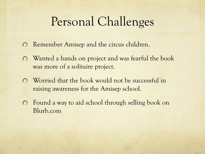 Personal Challenges
