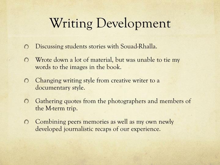 Writing Development