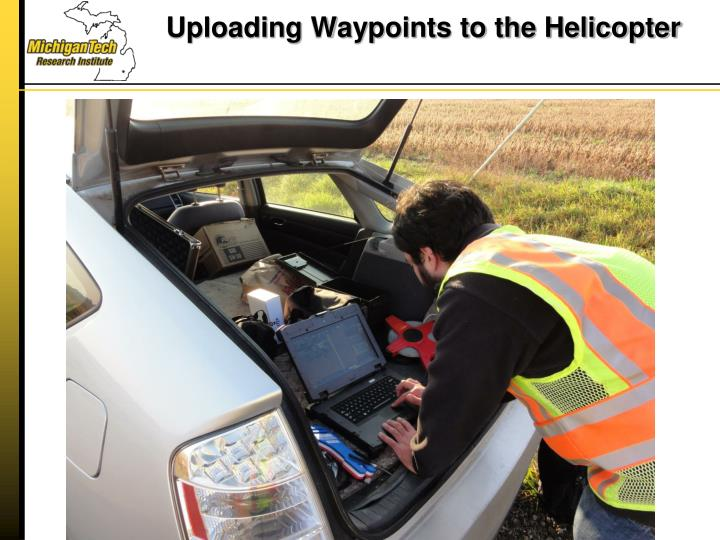 Uploading Waypoints to the Helicopter