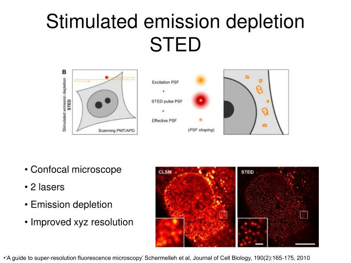 Stimulated emission depletion STED