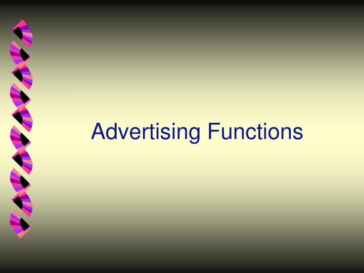Advertising Functions