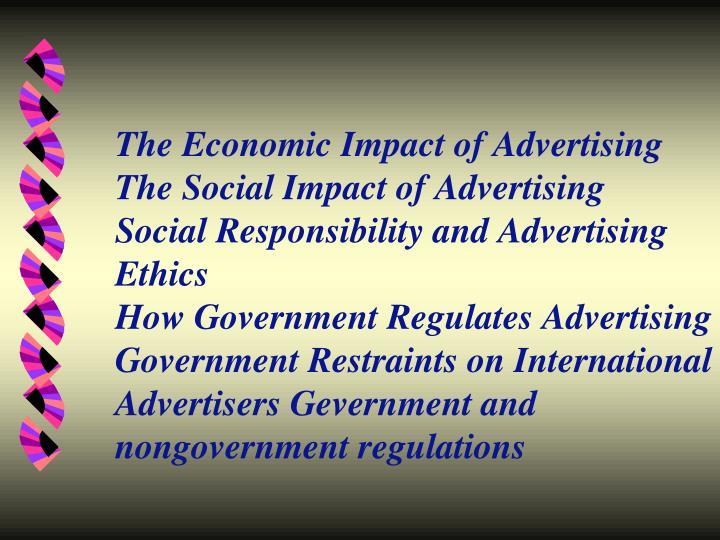 The Economic Impact of Advertising
